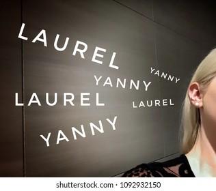 Yanny vs  Laurel Blonde woman hearing