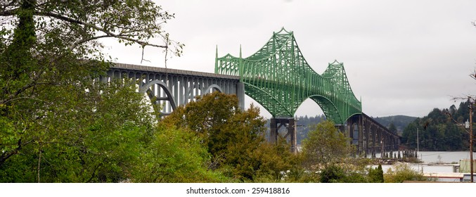 Yaquina Bay Bridge Highway 101 Newport Oregon United States