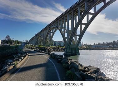 Yaquina bay bridge in Newport Oregon