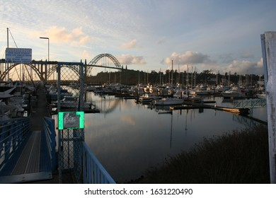 Yaquina Bay in Newport Oregon. January 2010