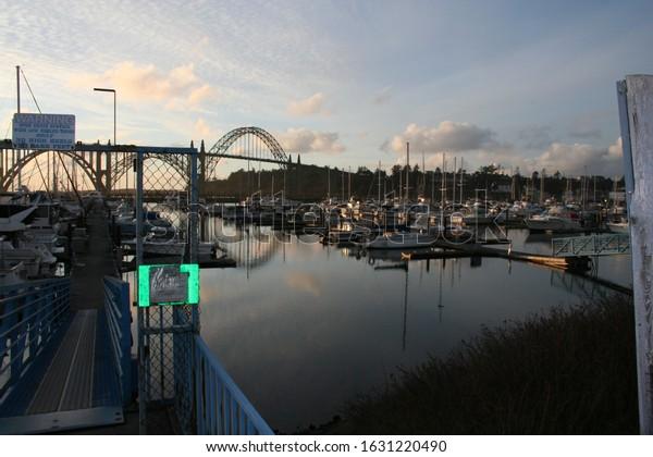 Yaquina Bay in Newport Oregon. January 2010