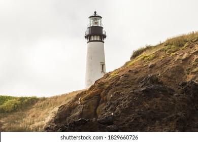 Yaquina Head Lighthouse at Pacific coast, Oregon, USA