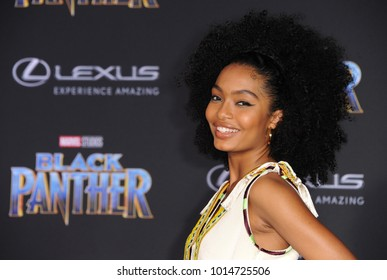 Yara Shahidi at the World premiere of Marvel's 'Black Panther' held at the El Capitan Theatre in Hollywood, USA on January 29, 2018.
