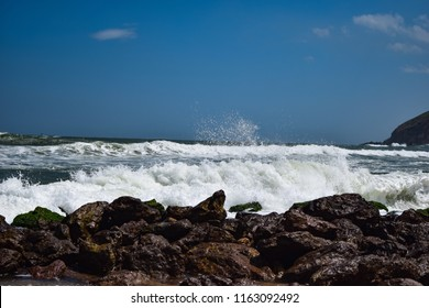 Yarada Beach - a beautiful and a secluded beach in Visakhapatnam. The drive to the beach is beautiful and gives a view of the city too. A must see in Vizag, Andhra Pradesh, India