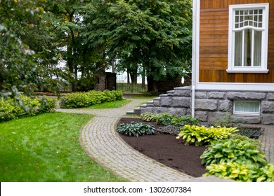 Yard country house. Eco-friendly lifestyle