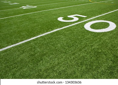 Yard Lines of a American Football Field