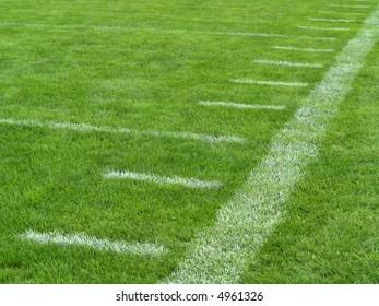 yard markers on an American football field
