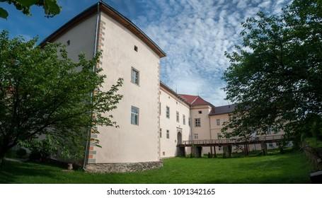 In the yard  Uzhhorod  Castle, View of the casemates