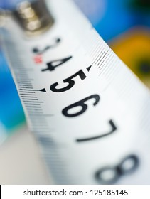 yardstick close up on a blur background