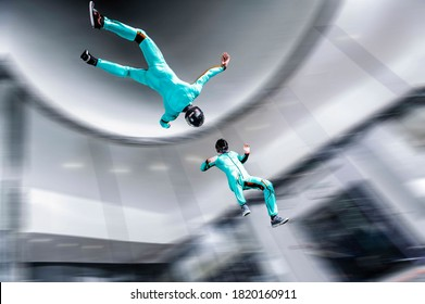 Yarka. Athletes from Thailand are engaged in skydiving. Aerodynamics. International competition.