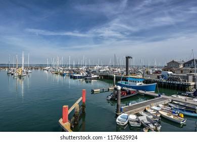 Yarmouth marina on the Isle of White in England