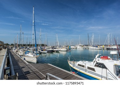 Yarmouth marina on the Isle of Wight in England