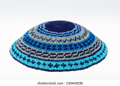 Yarmulke - traditional Jewish head-wear isolated on white