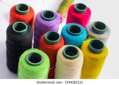 Yarn Textile,Spool of colorful clothes sewing thread