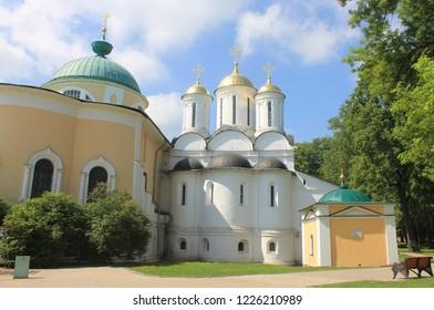 YAROSLAVL, YAROSLAVL OBLAST / RUSSIA - SEPTEMBER 10 2016: Religious buildings of the Yaroslavl Kremlin. Yaroslavl Architectural Historical and Art Museum Preserve