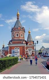YAROSLAVL, RUSSIA - JULY 07, 2014: View of the Chapel of Alexander Nevsky in Yaroslavl, Russia. A popular touristic landmark.