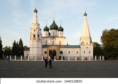 YAROSLAVL, RUSSIA - SEPTEMBER 07, 2018: the Temple of Elijah the Prophet is located on the main square of the city
