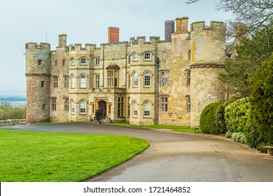 Yarpole, Herefordshire, England, April 3, 2019: Croft Castle, a National Trust property which is open to the public.