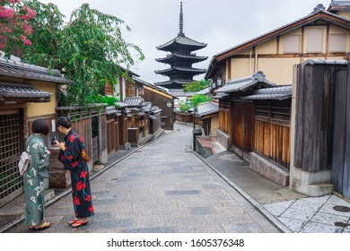 Yasaka Pagoda in Higashiyama District, Kyoto, Japan