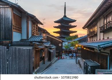 Yasaka Pagoda on Sannen Zaka Street, Kyoto, Japan