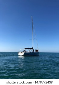 yatch sailing in the sea