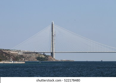 Yavuz Sultan Selim Bridge in Istanbul City, Turkey