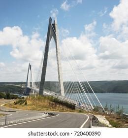 Yavuz Sultan Selim Bridge on the Bosporus