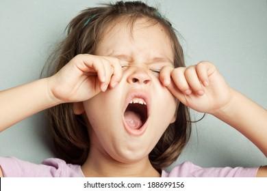 yawning girl