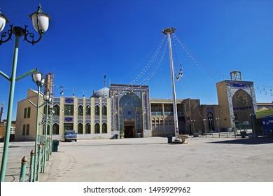 Yazd / Iran - 01 Oct 2012: The dome of Imam Zadeh Jafar Mausoleum, Mirror Mosque, Yazd, Iran