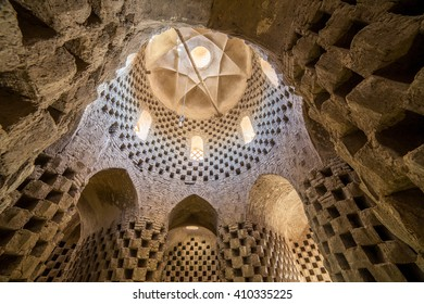 Yazd, Iran - December 12, 2015: Interior of the traditional pigeon house in Yazd province, Iran.