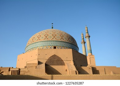 YAZD, IRAN - SEPTEMBER 3: Great Mosque at 3 September, 2018 at Yazd, Iran. The old town of Yazd isfull of mosques.