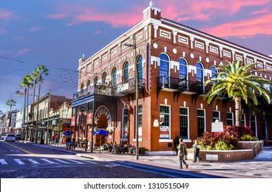 Ybor City , Florida. January 08, 2019 Centro Espanol Social Club was the first Latin club organized in Ybor City at Tampa Bay.