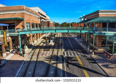 Ybor City Tampa Bay, Florida. January 19 , 2019  Panoramic view of Centro Ybor Complex in 8th Ave.