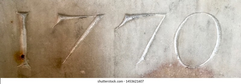 The year 1770 carved in stone