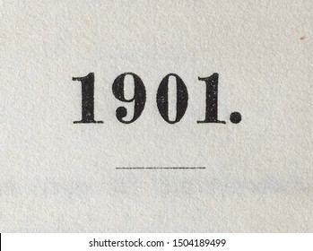The year 1901 as printed on the title page of a yearbook published that year