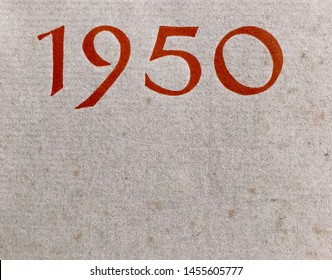 The year 1950 as printed on a dust jacket of that year
