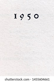 The year 1950 as printed on a title page of that year