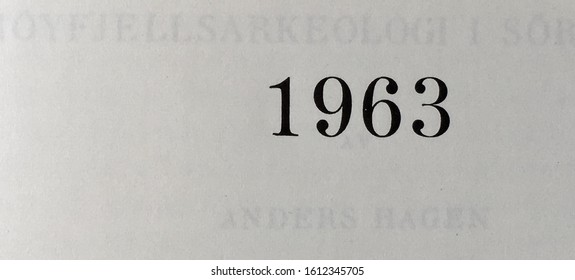The year 1963 printed on the title page of a journal published that year