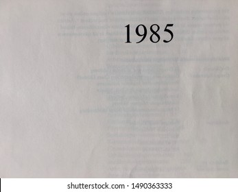 The year 1985 taken from the title page of a yearbook