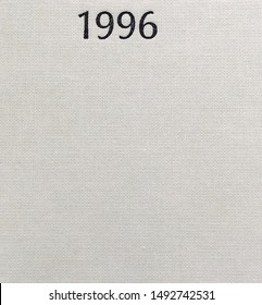 The year 1996 taken from the cloth binding of a yearbook published that year