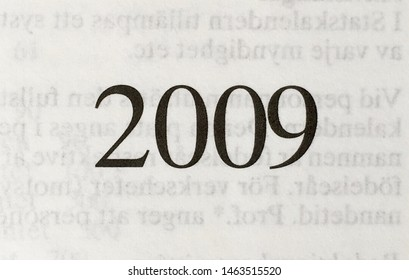 The year 2009 as printed on the title page of a journal published that year