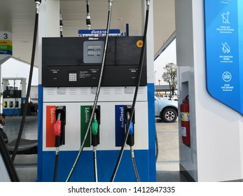 Year 2019 at Ayutthaya. PTT petrol station in Thailand