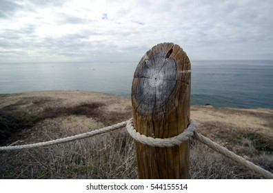 Year rings on a column of protecting fence in Point Loma Tidepools park,  San Diego, California - Shutterstock ID 544155514