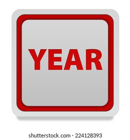 Year square icon on white background