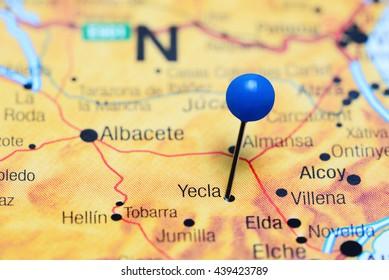 Elda Pinned On Map Spain Stock Photo Edit Now 439423684 Shutterstock