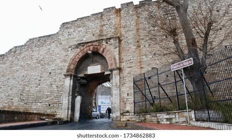 Yedikule Door on the Theodosian Walls of Istanbul / Zeytinburnu, Istanbul, Turkey / 30 January 2020