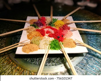 Yee Sang being serve during Chinese New Year
