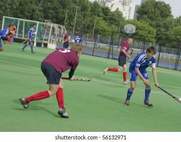 YEKATERINBURG - JUNE 12: Regional hockey tournament for men unleashed. Event 12 june, 2010 in Yetaterinburg, Russia.