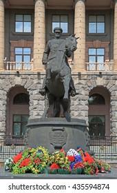 YEKATERINBURG, RUSSIA - JULY 20, 2015: monument of Georgy Zhukov in Yekaterinburg, Russia