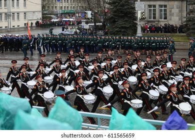 Yekaterinburg, Russia - May, 09th, 2015 - Victory Day parade in Yekaterinburg city, Urals, Russia, 70th anniversary